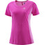Salomon Agile Hardloopshirt korte mouwen Dames roze